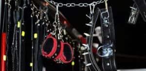 BDSM fixation - handcuffs, collars