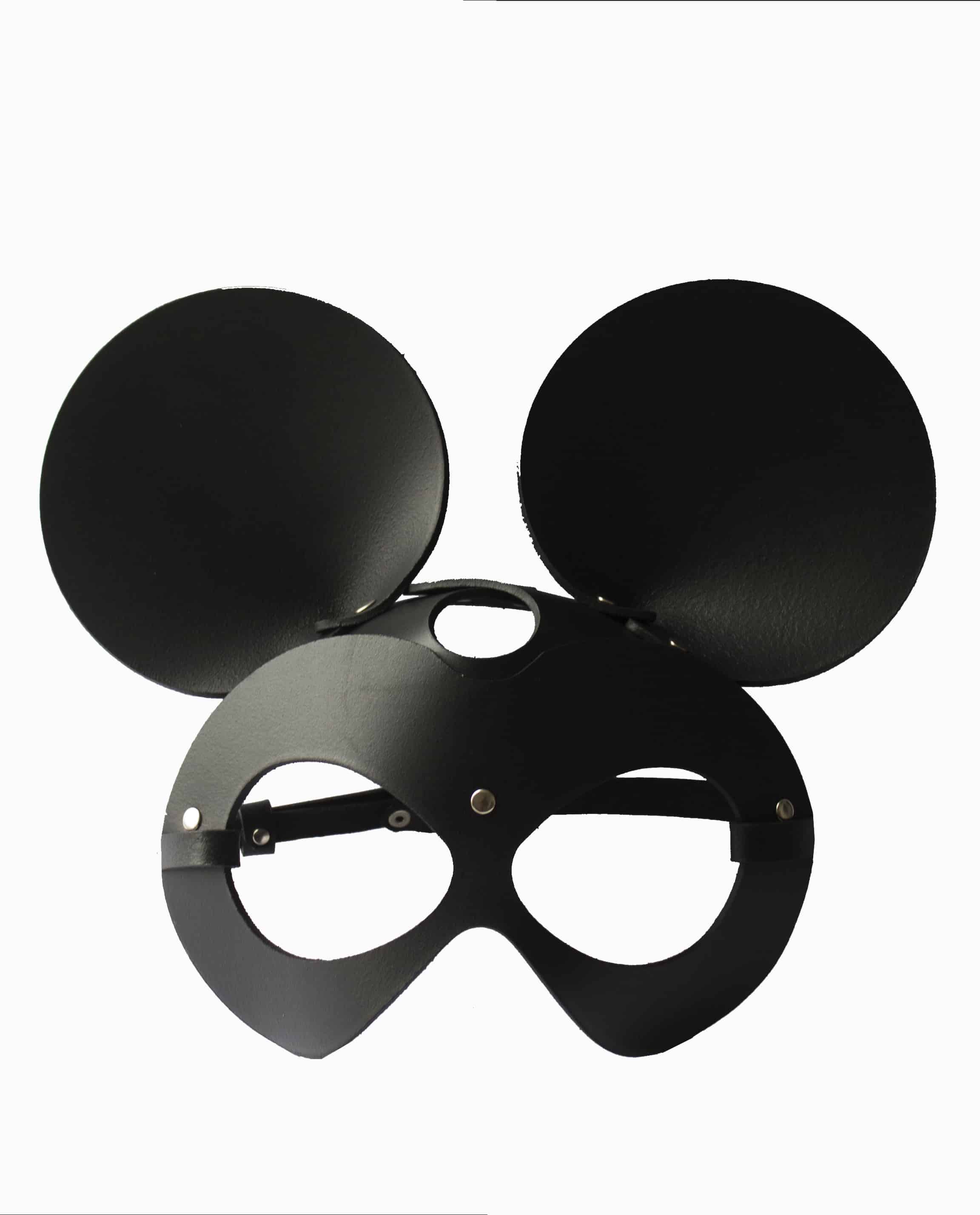 "Black Leather Mask ""Mouse"""